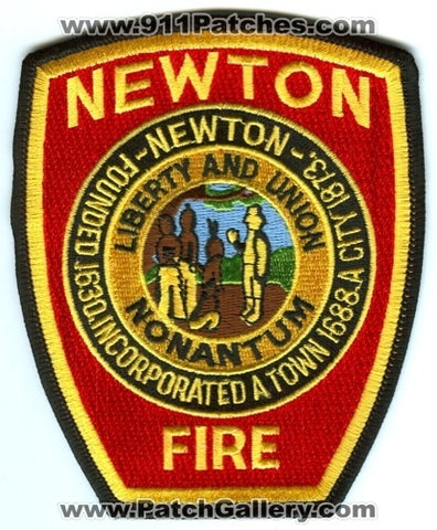Newton Fire Department Patch Massachusetts MA