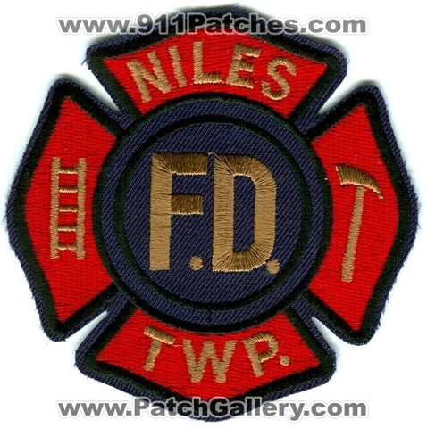 Niles Township Fire Department Patch Michigan MI