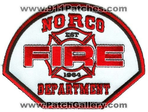 Norco Fire Department Patch California CA