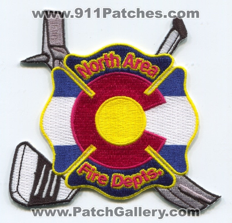 North Area Fire Departments Hockey Team Patch Colorado CO
