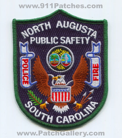 North Augusta Public Safety Department DPS Fire Police Patch South Carolina SC