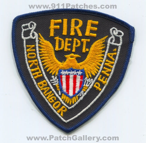 North Bangor Fire Department Patch Pennsylvania PA