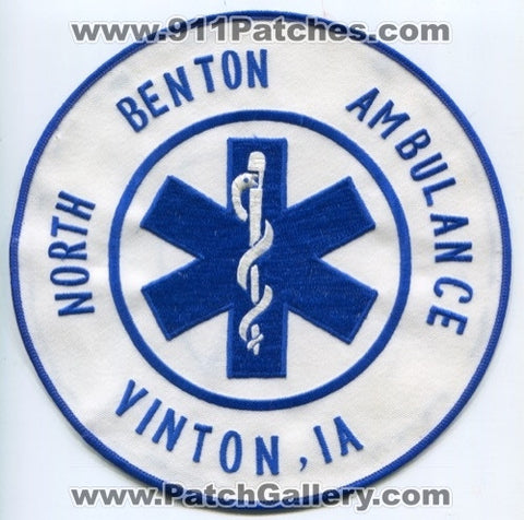 North Benton Ambulance EMS Vinton Patch Iowa IA