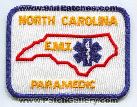 North Carolina State Emergency Medical Technician EMT Paramedic EMS Patch North Carolina NC