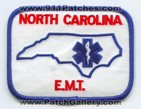 North Carolina State Emergency Medical Technician EMT EMS Patch North Carolina NC v3
