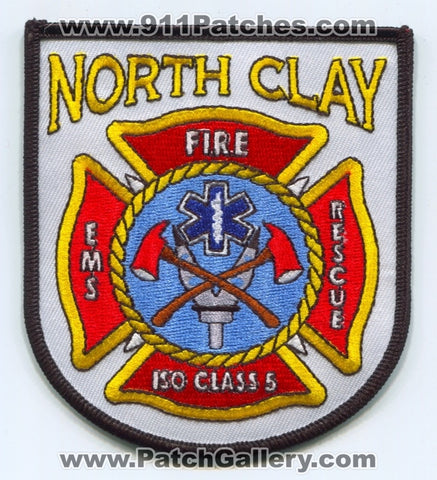 North Clay Fire Department Patch Illinois IL