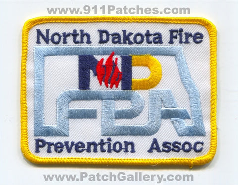 North Dakota Fire Prevention Association Patch North Dakota ND