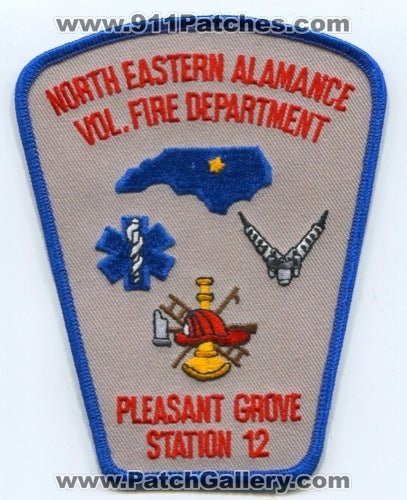 North Eastern Alamance Volunteer Fire Department Pleasant Grove Station 12 Patch North Carolina NC