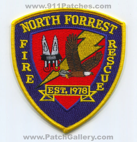 North Forrest Fire Rescue Department Patch Mississippi MS