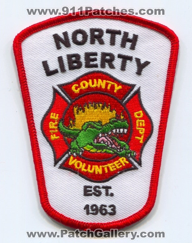 North Liberty County Volunteer Fire Department Patch Texas TX