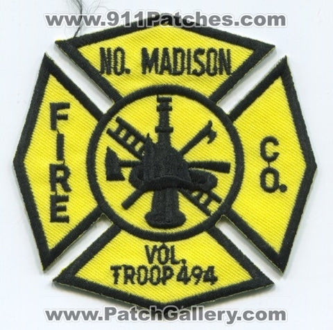 North Madison Fire Company Volunteer Troop 494 Patch Connecticut CT