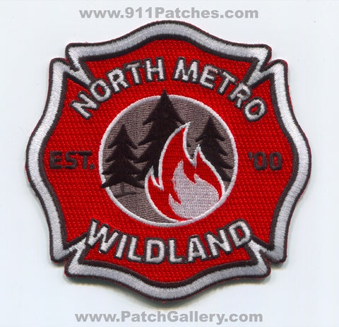 North Metro Fire Rescue District Wildland Patch Colorado CO