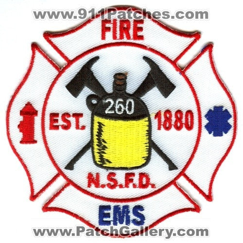 NSFD Fire EMS Department 260 Patch Unknown State