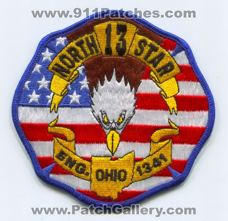 North Star Community Fire Department 13 Engine 1341 Patch Ohio OH