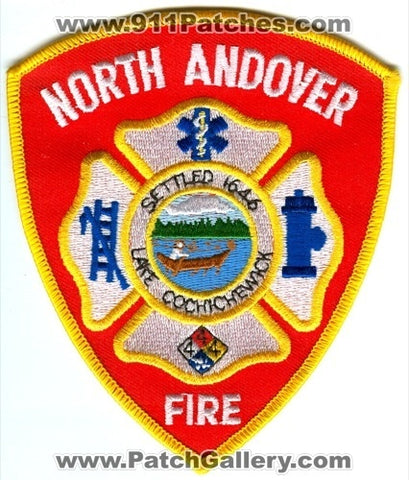 North Andover Fire Department Patch Massachusetts MA