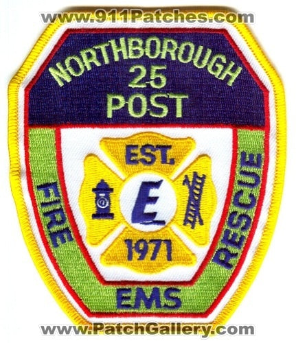 Northborough Fire Rescue Department Explorer Post 25 Patch Massachusetts MA