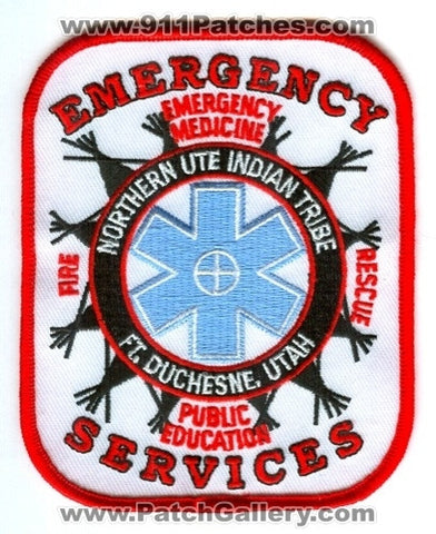 Northern Ute Indian Tribe Emergency Services Fire Rescue EMS Patch Utah UT