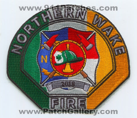 Northern Wake Fire Department Saint Patricks Day 2018 Patch North Carolina NC