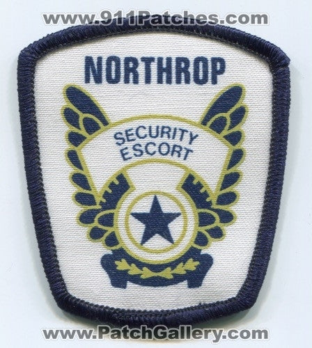 Northrop Grumman Aircraft Corporation Security Escort Patch California CA
