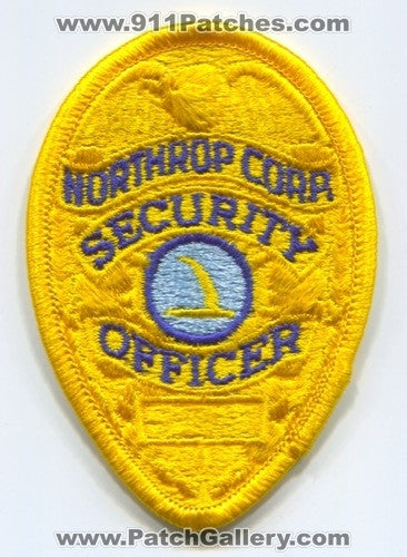 Northrop Grumman Aircraft Corporation Security Officer Patch California CA