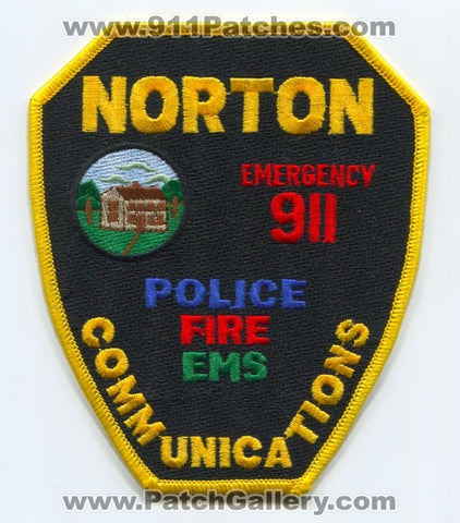 Norton Communications Emergency 911 Dispatcher Fire EMS Police Patch Massachusetts MA