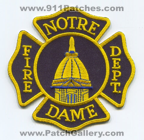 The University of Notre Dame Fire Department Patch Indiana IN