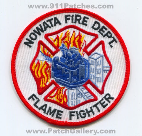 Nowata Fire Department Flame Fighter Patch Oklahoma OK