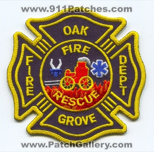 Oak Grove Fire Rescue Department Patch Unknown State