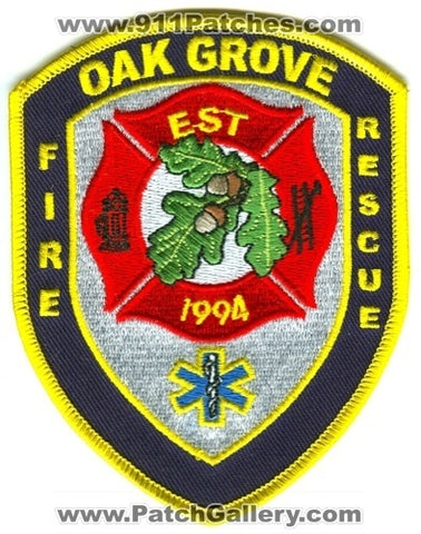 Oak Grove Fire Rescue Department Patch Oklahoma OK