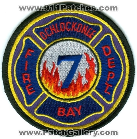 Ochlockonee Bay Fire Department 7 Patch Florida FL