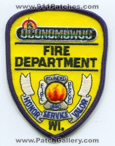 Oconomowoc Fire Department Patch Wisconsin WI