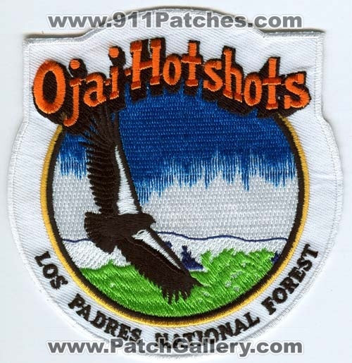 Ojai Hotshots Los Padres National Forest Fire Wildfire Wildland Patch California CA