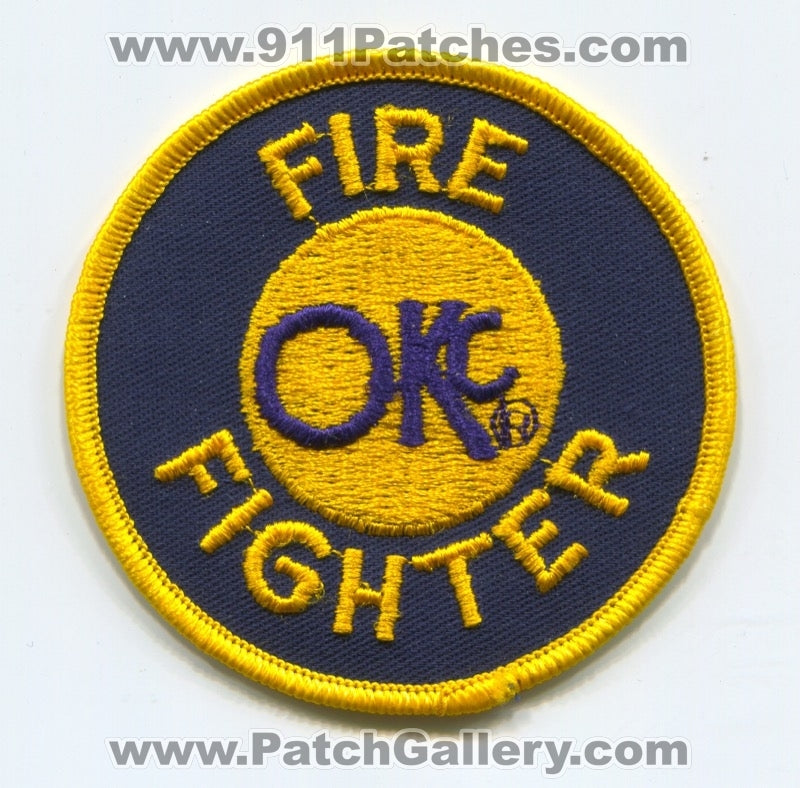 Oklahoma City Fire Department Firefighter Patch Oklahoma OK