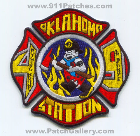 Oklahoma Fire Department Station 49 Apollo Patch Pennsylvania PA