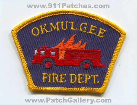 Okmulgee Fire Department Patch Oklahoma OK