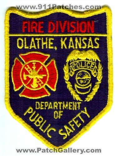 Olathe Department of Public Safety DPS Fire Division Patch Kansas KS
