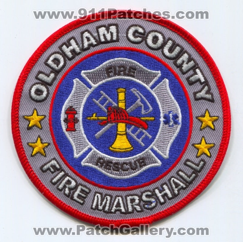 Oldham County Fire Rescue Department Fire Marshall Patch Kentucky KY