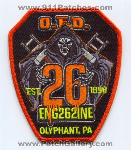 Olyphant Fire Department Hose Company Number 2 Engine 262 Patch Pennsylvania PA