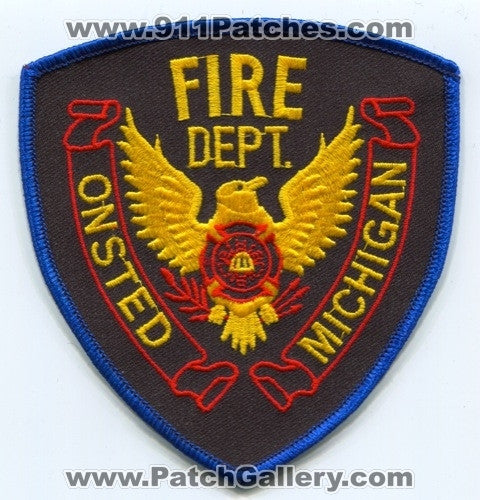 Onsted Fire Department Patch Michigan MI