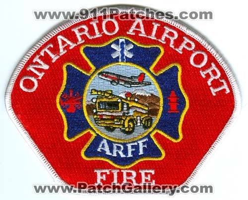 Ontario Airport Fire Department ARFF Patch California CA