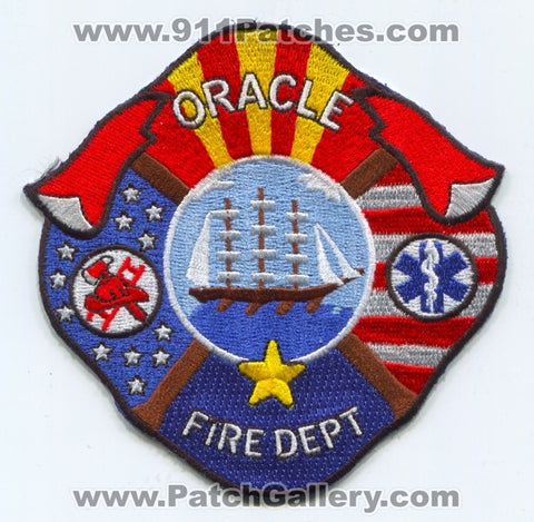 Oracle Fire Department Patch Arizona AZ