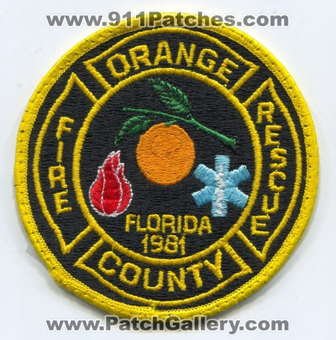 Orange County Fire Rescue Department Patch Florida FL
