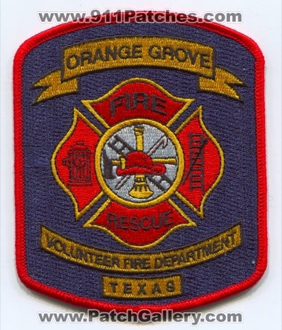 Orange Grove Volunteer Fire Rescue Department Patch Texas TX