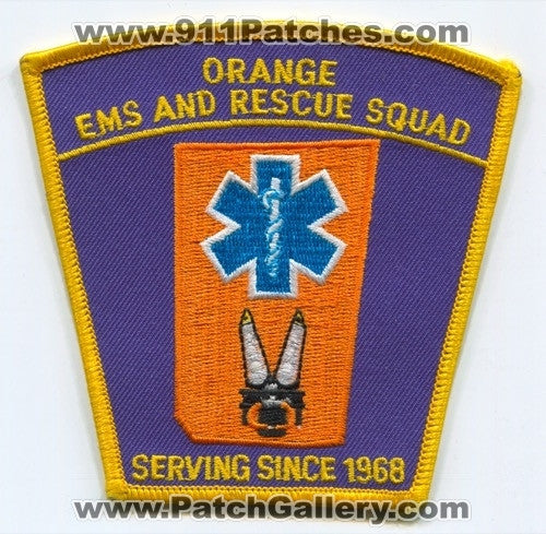 Orange EMS and Rescue Squad Patch Unknown State
