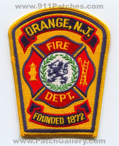 Orange Fire Department Patch New Jersey NJ
