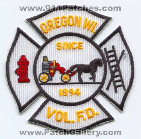 Oregon Volunteer Fire Department Patch Wisconsin WI