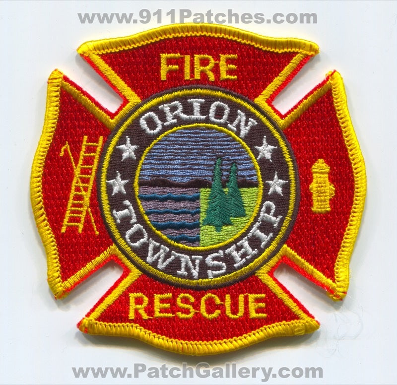 Orion Township Fire Rescue Department Patch Michigan MI