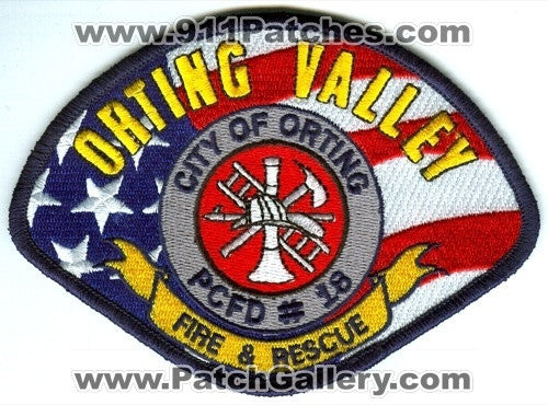 Orting Valley Fire Rescue Department Pierce County District 18 Patch Washington WA