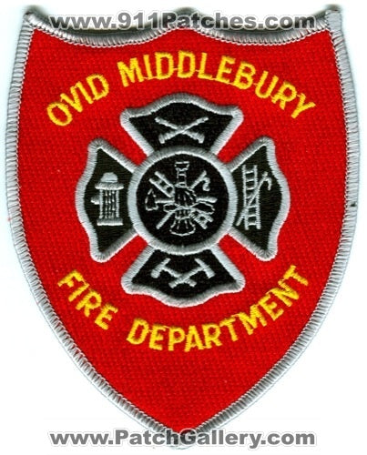 Ovid Middlebury Fire Department Patch Michigan MI
