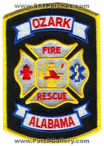 Ozark Fire Rescue Department Patch Alabama AL